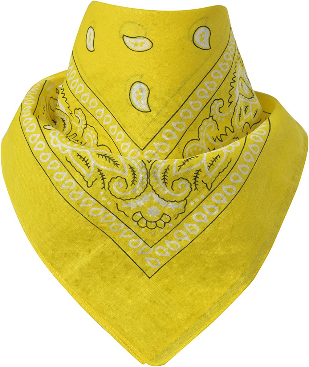 Einheitsgr/ö/ße Halst/ücher 100/% Baumwolle Miobo Bandana Halsband Kopft/ücher
