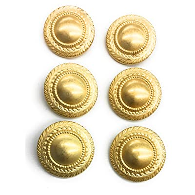 6 Matte Gold Button Braid Design Rim for Coats Blazer Dress and Suits 3/4'' (18mm)): Arts, Crafts & Sewing