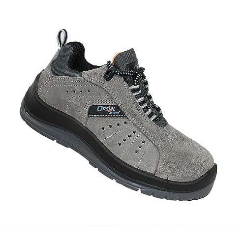Opsial - Calzado de protección de Piel para hombre Negro negro, color Negro, talla 37: Amazon.es: Zapatos y complementos