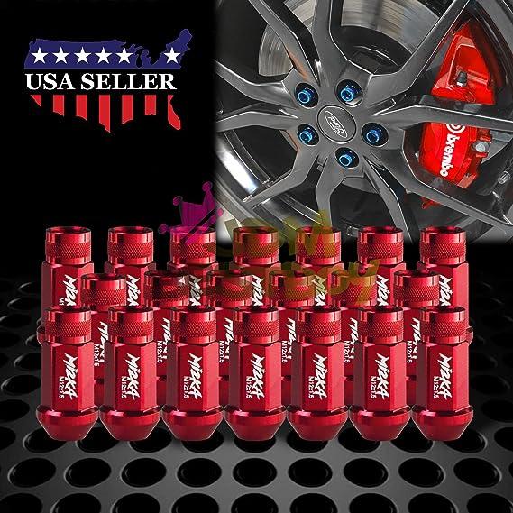 20 piezas Tuercas de rueda de acero inoxidable M12x1.5 Rosca Universal Auto Car Accesorios Tuercas de rueda