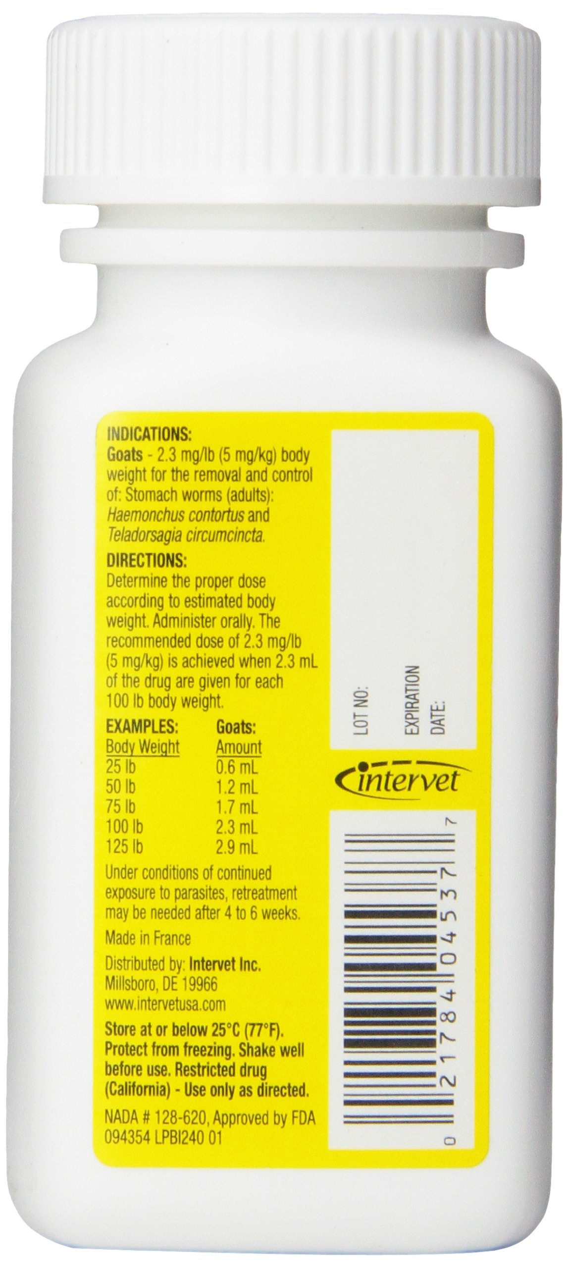 Merck Safeguard Goat Dewormer, 125ml by Durvet