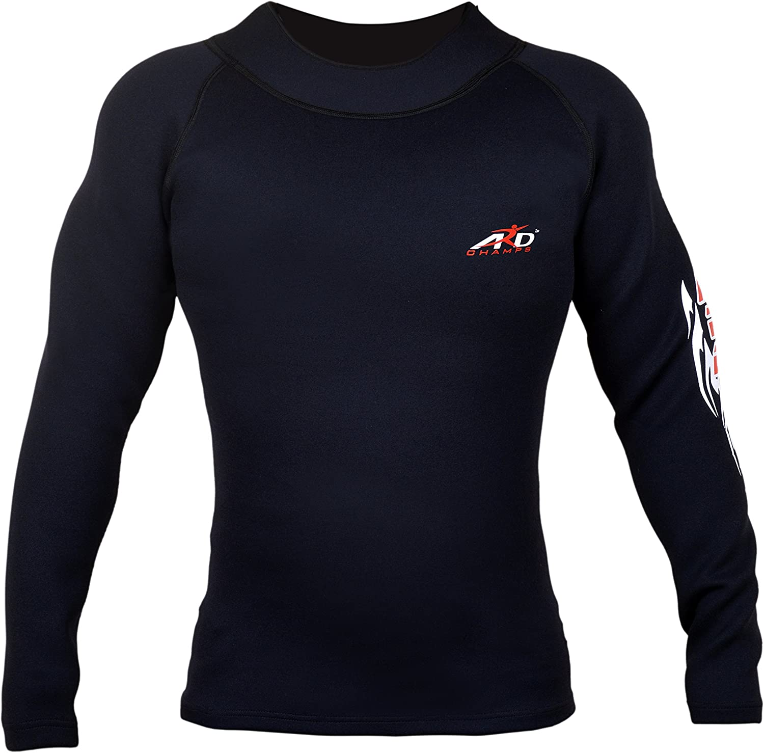 ARD Heavy Duty Neoprene Sweat Shirt Rash Guard Suana Suit Weight Loss MMA Men Top