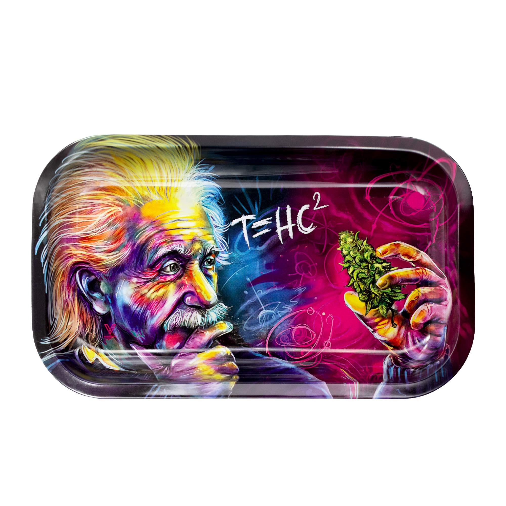 Metal Rolling Tray, T=HC2 Einstein Design by V Syndicate, Medium (Available in 2 Sizes) by V. Syndicate