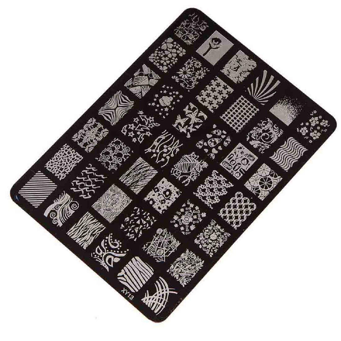 Amazon.com : Sannysis Nail Stamping Printing Plate Manicure Nail Art ...