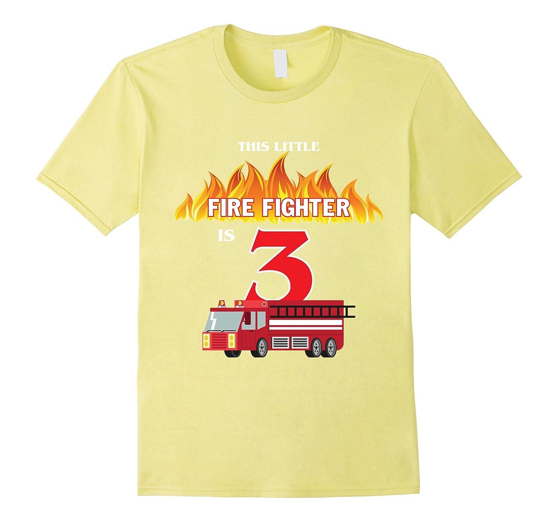 3rd Birthday Boys Firefighter Fireman T Shirt For Kids TJ