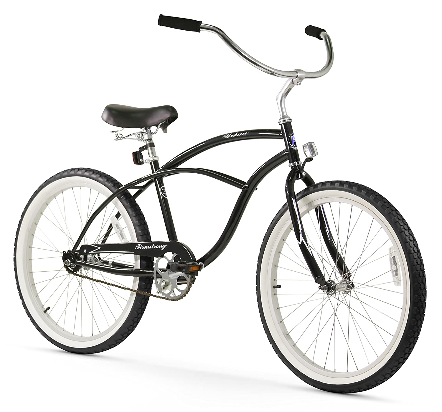 amazoncom firmstrong urban man single speed beach cruiser bicycle 24 inch black cruiser bicycles sports u0026 outdoors