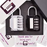 Locker Lock for Gym ( 2 Pack ) in gift box by G-Locks | Resettable 4 digit Combination Lock + eBook with Tips for Better Safety. You also can use for Toolbox,Case,Hasp Storage, Sports Locker
