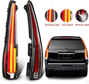 For 2007-2014 Chevy Suburban Tahoe Yukon LED Rear Tail Lights Lamps Pair