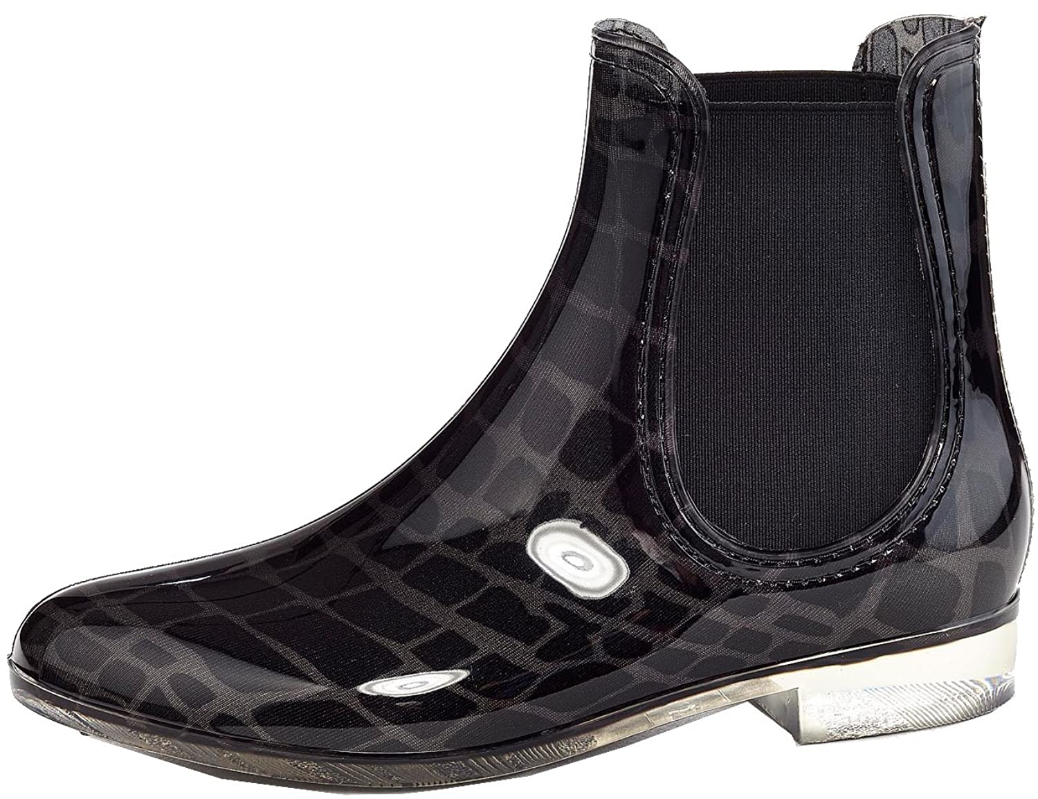 Henry Ferrera Women's Refresh Pattern Print Shiny Rubber Rain Boots