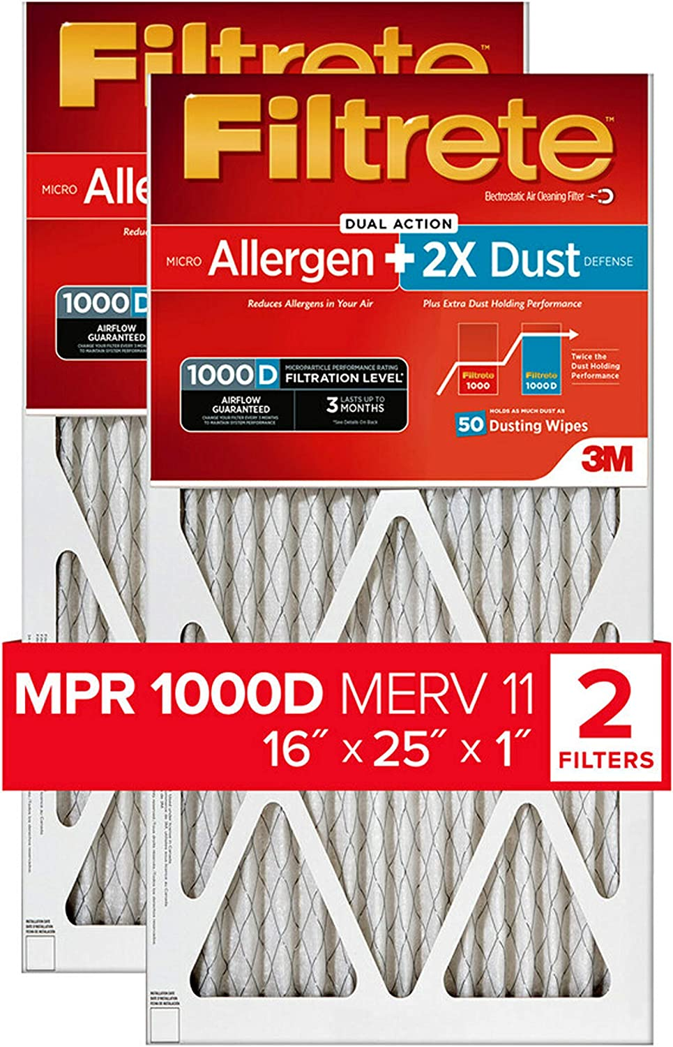 Nordic Pure 19/_3//4x21/_1//2x1 Exact MERV 11 Pleated AC Furnace Air Filters 6 Pack