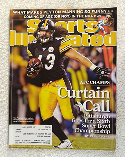 86d76c171 Troy Polamalu - The Pittsburgh Steelers win the AFC Championship - Sports  Illustrated - January 26
