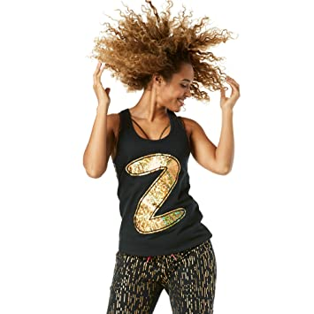 Zumba Débardeur de Perdu dans la Musique pour Femme XS Bold Black 9d9705ee5d2