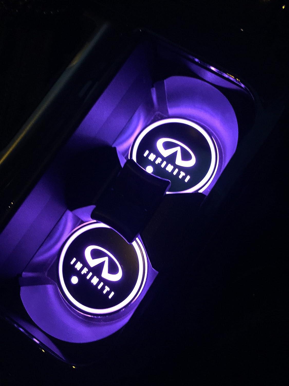 Amazon Com Car Logo Led Cup Pad Led Cup Coaster Usb Charging Mat