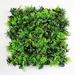 "ULAND Artificial Topiary Hedges Panels, Plastic Faux Shrubs Fence Mat, Greenery Wall Backdrop Decor, Garden Privacy Screen Fence, Pack of 6pcs 20""x20"""