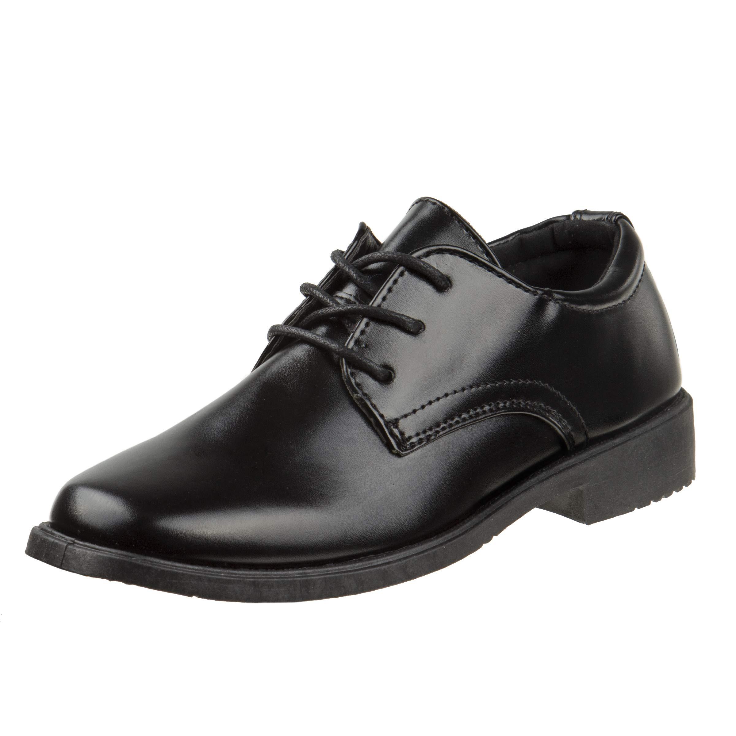 Josmo Boys Basic Oxford Casual Dress Shoe, Black, Size 5'