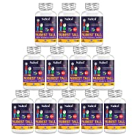 NuBest Tall 10+ - Maximum Bone Growth Formula - Herbal Growth Pills - Stronger and Healthier Bone Supplements - 60 Capsules - for People Who Drink Milk Daily (Pack of 12)