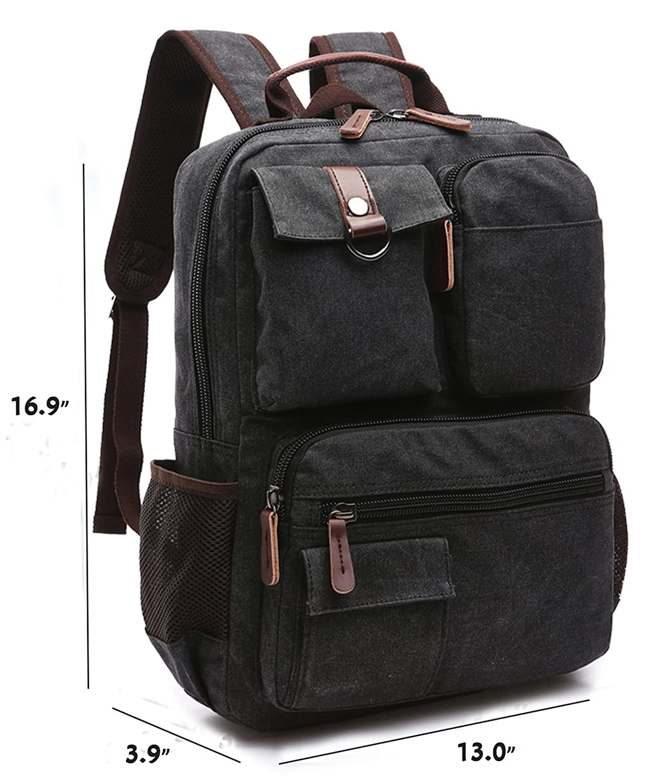 Mochila de Portátil 15 Backpack Impermeable Para el Laptop del Negocio Trabajo Diario Ocio Mochila Escolar 33 * 10 * 43cm-Negro: Amazon.es: Electrónica