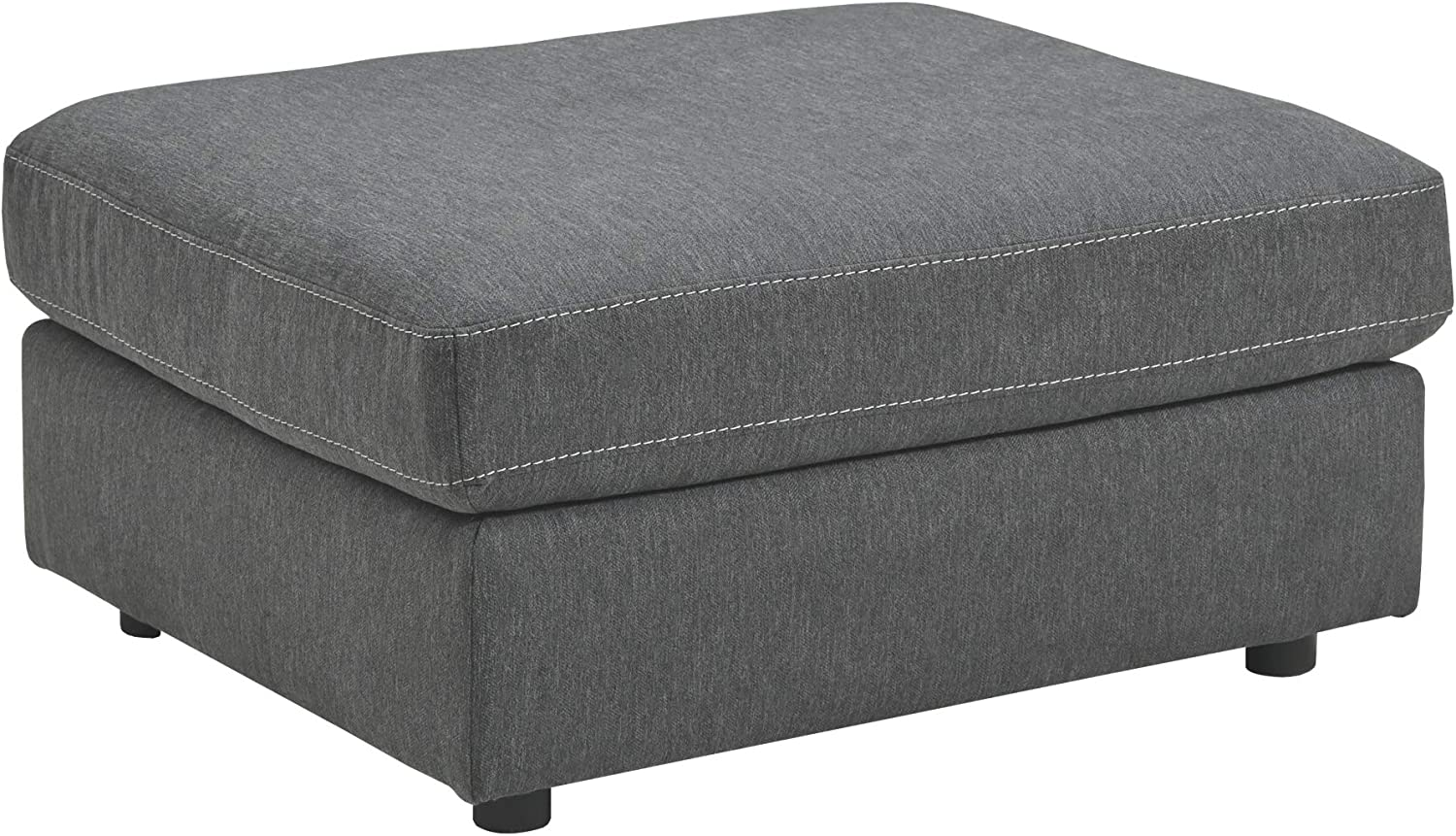 Signature Design by Ashley - Candela Oversized Accent Ottoman, Charcoal
