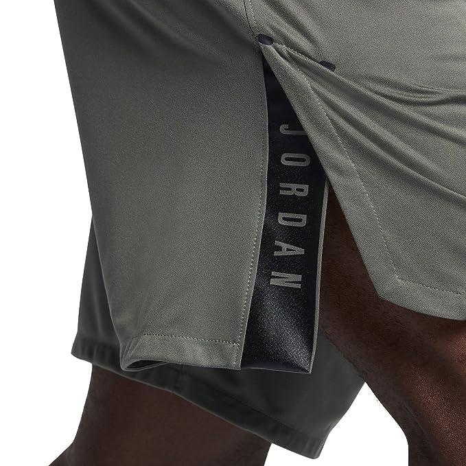 dcc13ece9d7f Amazon.com  Nike Mens Jordan 23 Alpha Knit Basketball Shorts River Rock  Black  Sports   Outdoors