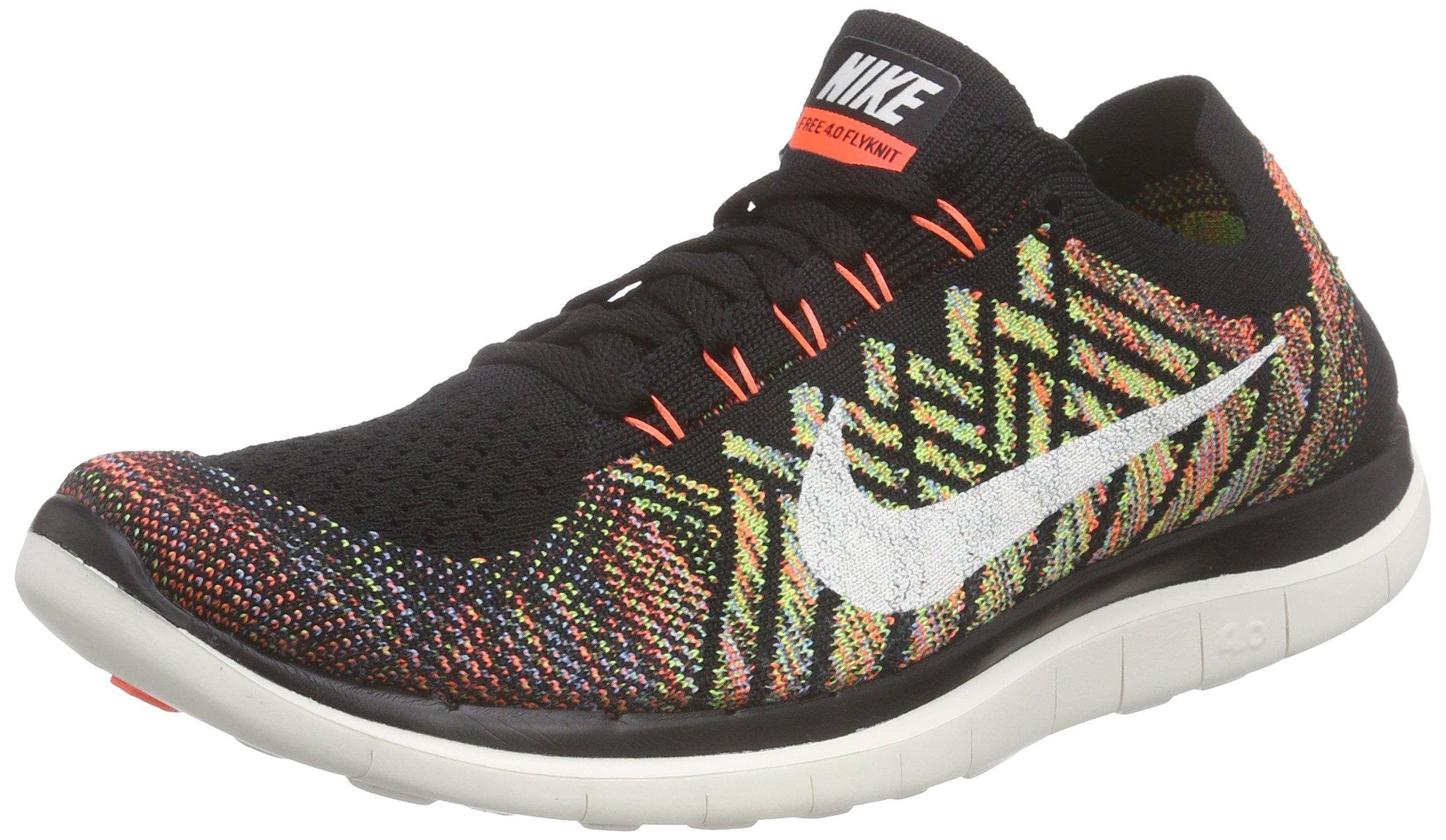 another chance 8f888 eb54a Nike Men's Free 4.0 Flyknit Running Shoe, BLACK/SAIL-HYPER  ORANGE-UNIVERSITY BLUE, Size 9 D(M) US