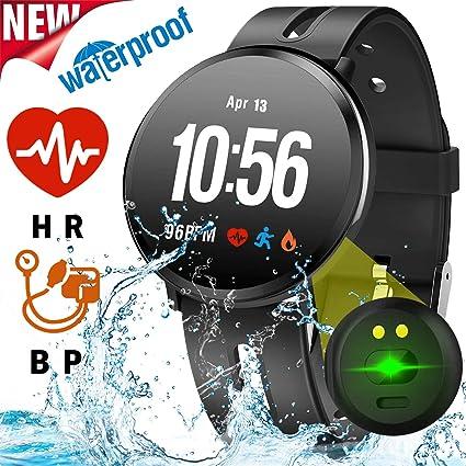 Fitness Tracker Watch for Women Men Smart Watch with Blood Pressure Heart Rate Sleep Monitor Calorie Smartwatch Activity Tracker IP68 Waterproof ...
