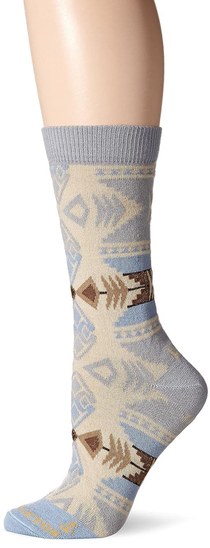 Pendleton Women's Silver Bark Crew Socks, Grey, Medium (6-10) McCubbin Hoisery 7004-W