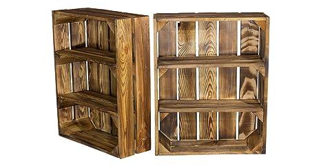 Mobili Fai Da Te Con Cassette Della Frutta : Cassetta con ripiani a scomparti scaffale in legno a effetto