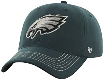 f3bc72c89215d Philadelphia Eagles 47 Brand NFL  quot Game Time quot  Green Stretch Fit Hat