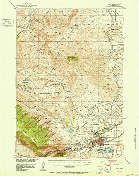 Amazon Com Yellowmaps Cody Wy Topo Map 1 62500 Scale 15 X 15