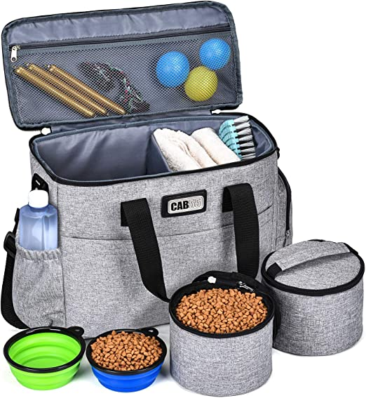 Amazon.com : CAB55 Dog Travel Bag, Perfect Weekend Pet Travel Set for Dog &  Cat Week Away Tote Organizer Bag for Dogs Travel Airline Approved Tote  Organizer with Multi-Function Pockets : Pet