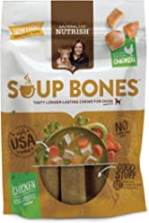 Rachael Ray Nutrish Soup Bones Dog Treats, Real Chicken & Veggies Flavor, 3 Bones, 6.3 oz