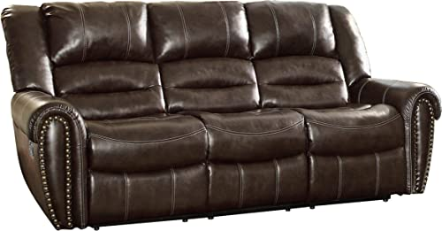 Homelegance Center Hill 90″ Bonded Leather Double Reclining Sofa