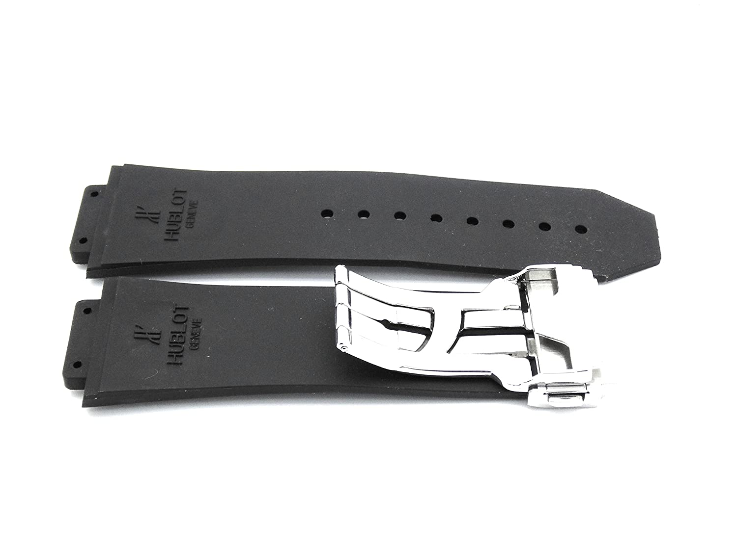 Amazon.com: NEW 28mm Black Rubber Strap With Steel Clasp MADE TO FIT TO Hublot BIG BANG: Home & Kitchen