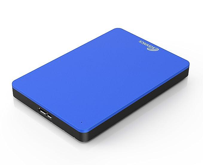 70 opinioni per Sonnics 500GB Blu hard disk esterno portatile USB 3.0 Super velocità di