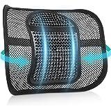 RenFox Cojín Lumbar Soporte para la Espalda Lumbar Soporte para Silla de Oficina Coche corrige la Postura Alivia el…