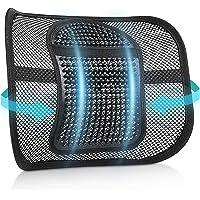 RenFox Cojín Lumbar Soporte para la Espalda Lumbar Soporte para Silla de Oficina Coche…