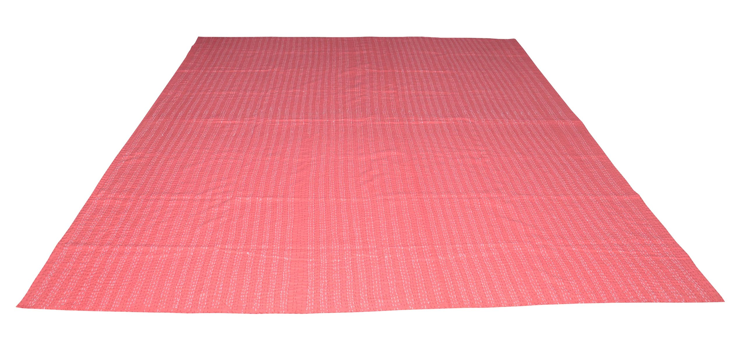 100% Cotton Quilt Floral Pattern Home Décor Kantha Multi Color Reversible Patchwork Bedspread, 90 X 108 Inches by Rajasthali (Image #5)