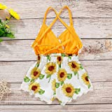 Newborn Baby Girls Clothes Floral Sleeve Romper