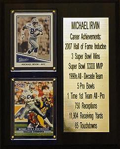 "C & I Collectibles 8""X10"" Michael Irvin Dallas Cowboys Career Stat Plaque"