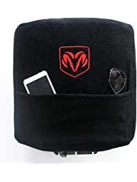 Seat Armour KADRAMBJS02-16 Custom Fit Console Cover with Embroidered Logo for Select Dodge Ram Models with Jump Cotton
