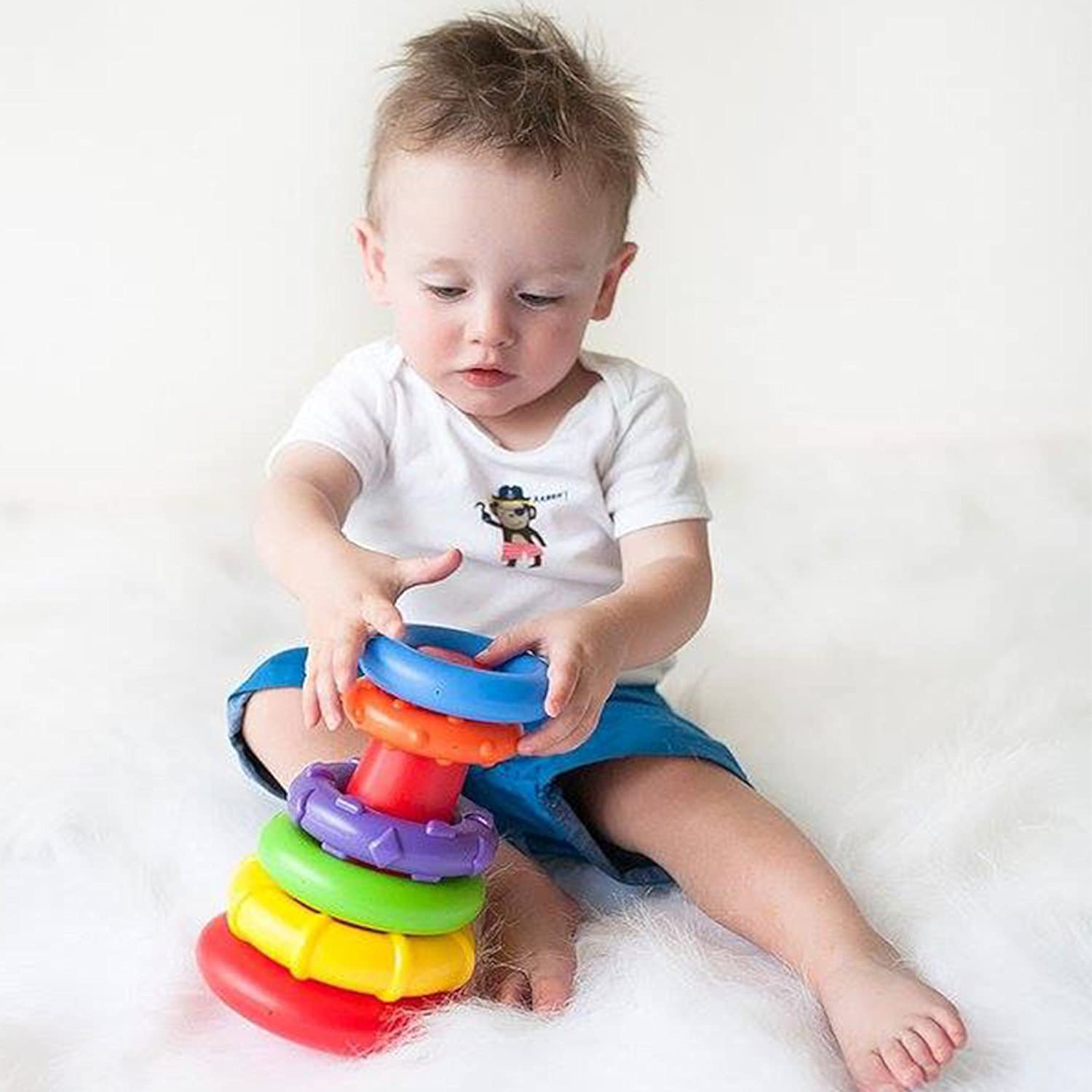 Amazon Playgro Rock N Stack Toy Rainbow for baby