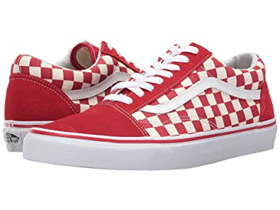 e8fda6e30cf Image Unavailable. Image not available for. Color  Vans Old Skool Primary  Checker Racing RED White Size 12 M ...