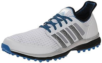 best service 1328c af8cb adidas Men s Climacool Golf Spikeless, FTWR White Core Black Bright Blue,  9.5