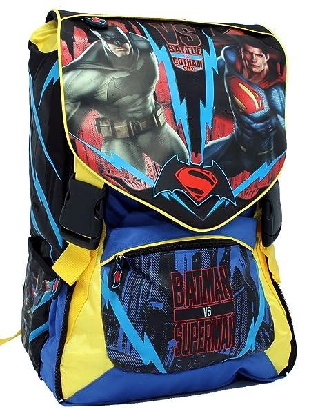Mochila escolar extensible Batman vs Superman DC Comics Linea oficial