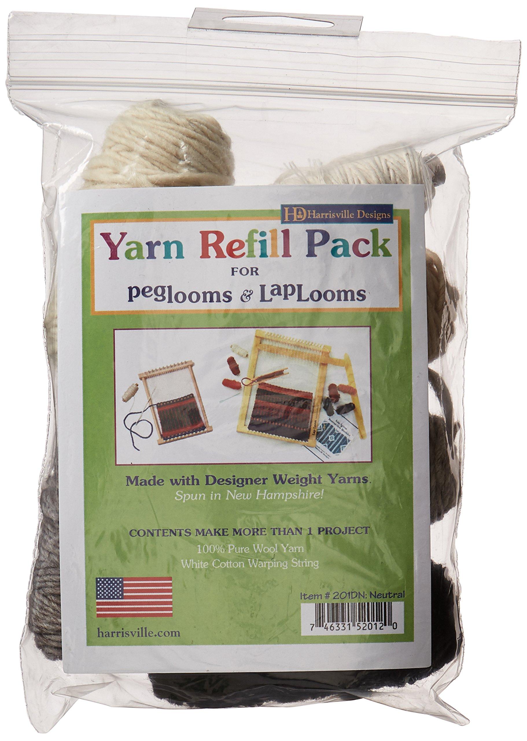 Harrisville Designs pegLoom & LapLoom Yarn Refill Pack - Neutral