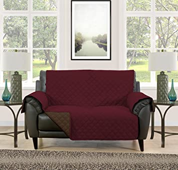 Blissful Living Reversible Non Slip Couch Cover   Perfect Slipcover To  Protect Your Furniture From