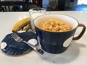 Momozee Ceramic 33 oz, Large Ramen Bowl & Lid & Chopsticks, soup Bowl, Dishwasher & Microwave Safe,Japanese Style Noodle, instant ramen,Udon, Pho,serving bowl, bowl sets.