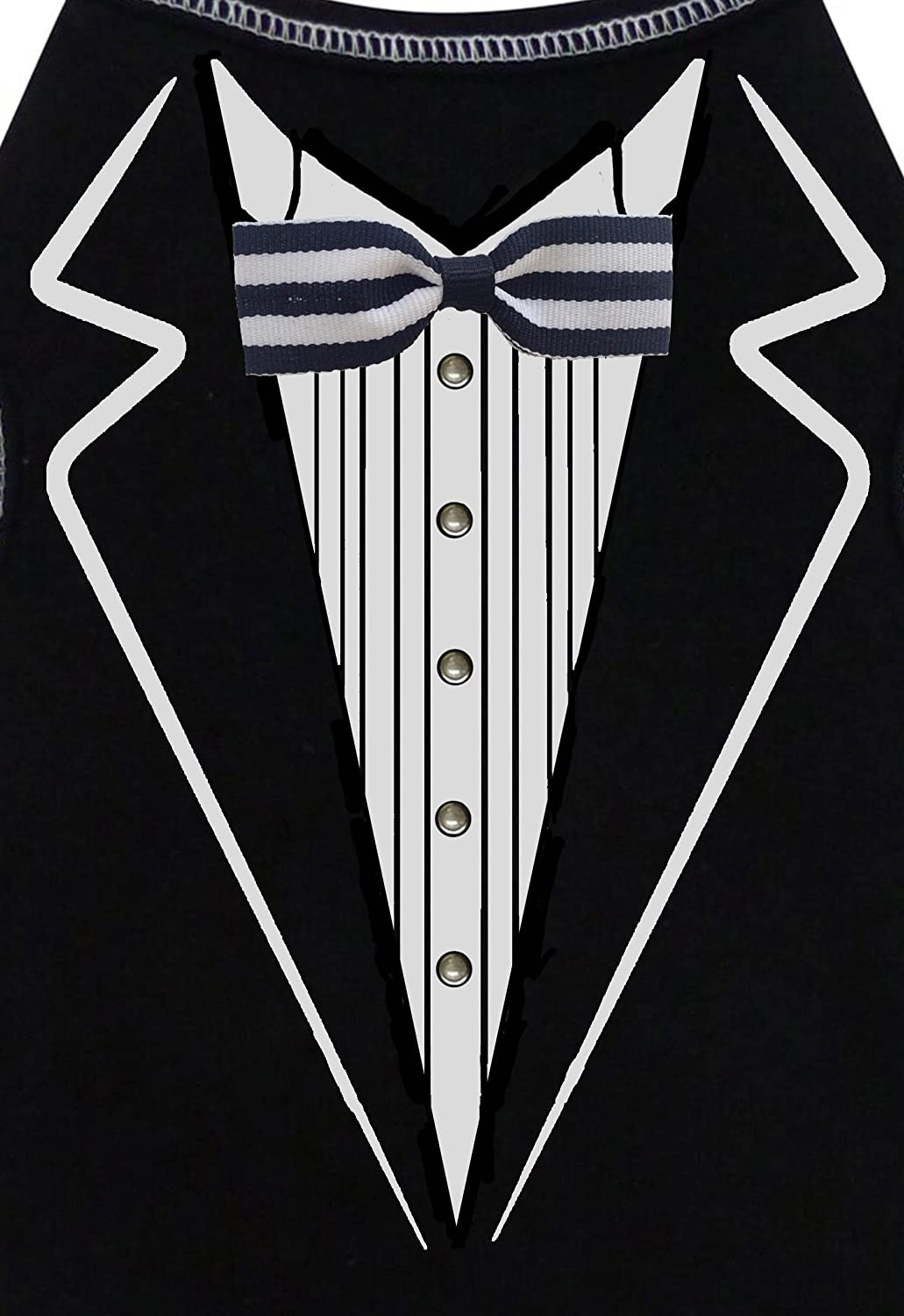 Dog Tuxedo w Formal Tails- Black, Large (Chest 19-21 )