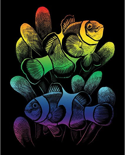 ROYAL BRUSH Rainbow Foil Engraving Art Kit Dolphin Reef 8-Inch by 10-Inch