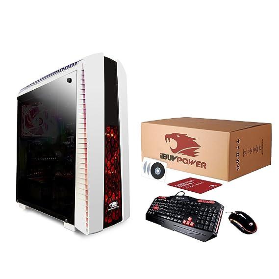 iBuyPower AM8480I 3.7GHz i7-8700K Escritorio Blanco PC PCs/estación de Trabajo - Ordenador de sobremesa (3,7 GHz, 8ª generación de procesadores Intel® ...
